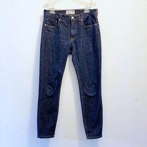"""EVERLANE Dark Wash 9"""" Rise Crop Jeans"""
